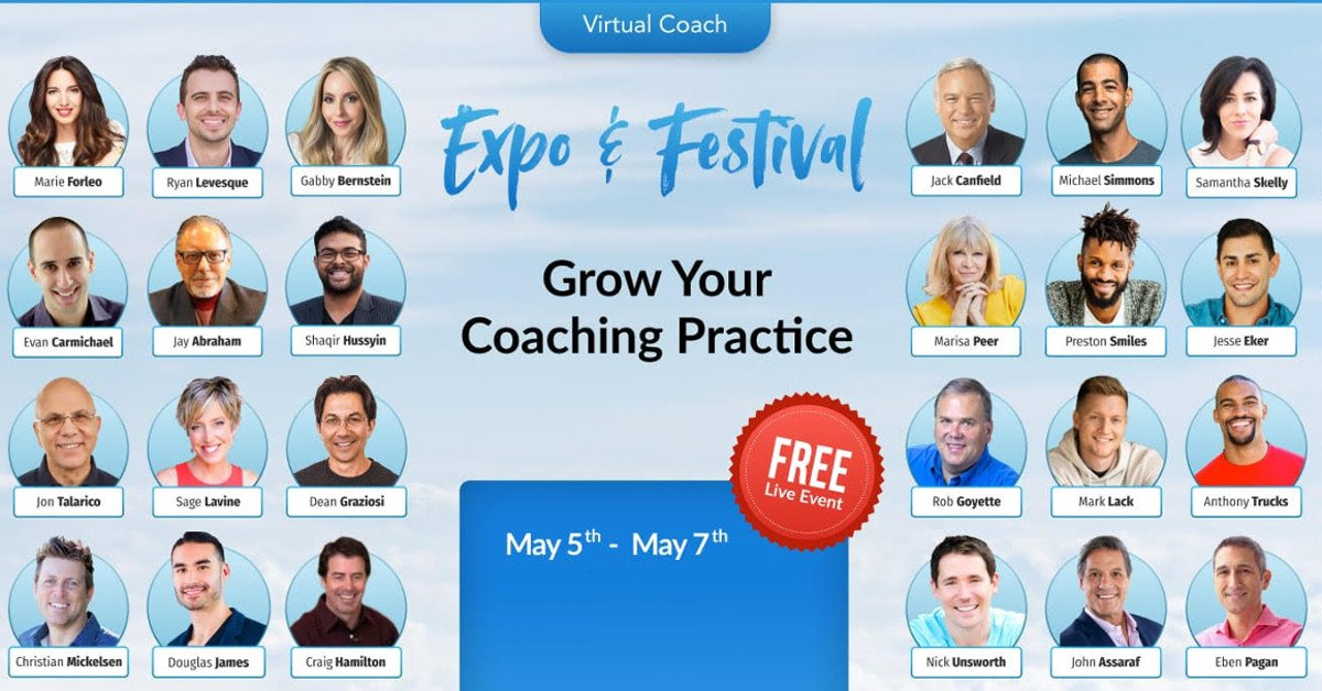 Grow Your Spiritual Coaching Practice, Expo & Festival - Featuring Gabby Bernstein, Claire Zammit & More