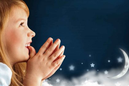 Girl Praying To Stars