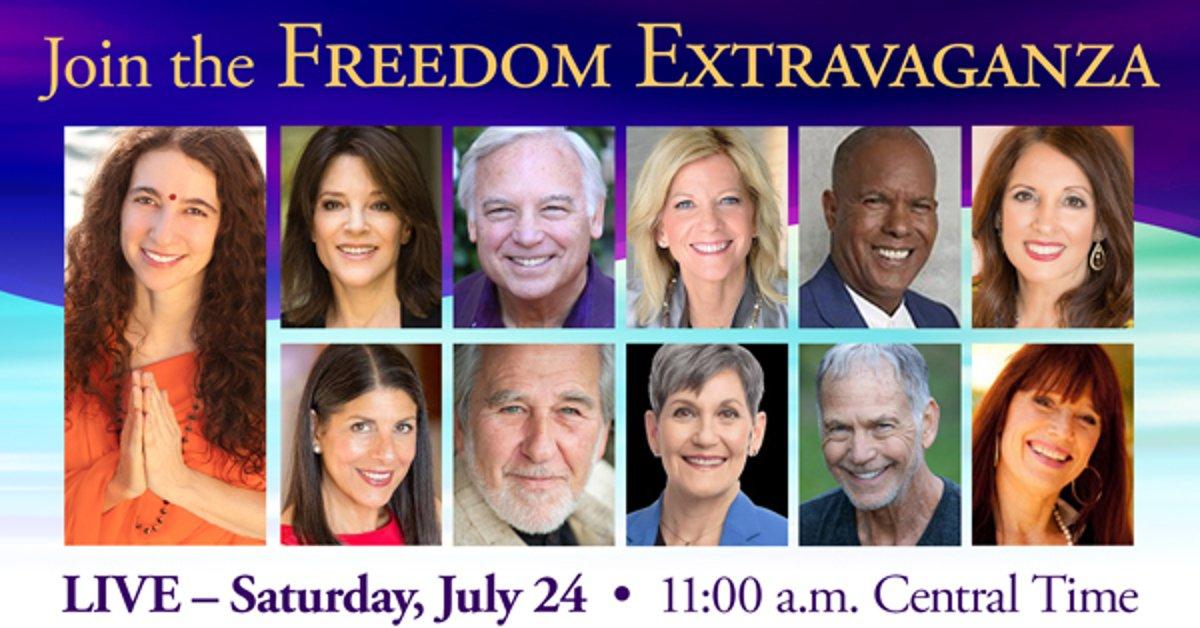 Freedom Extravaganza 2021: Inner Peace & Spiritual Freedom Summit - Marianne Williamson, Bruce Lipton, Lynne McTaggart & More